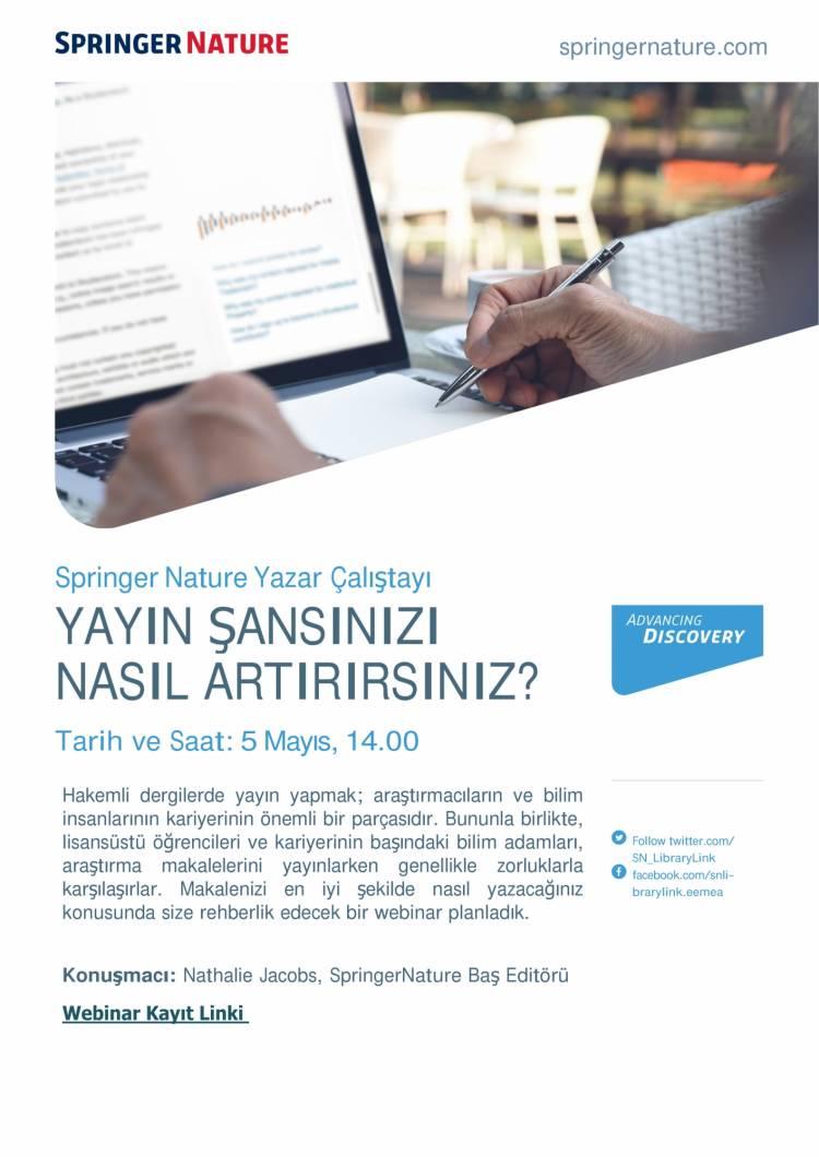 Springer Nature Editörlü Yazar Çalıştayı - 5 Mayıs 2021