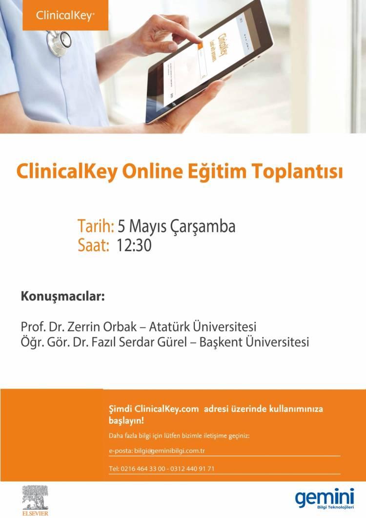 Elsevier ClinicalKey Webinar : 5 Mayıs 2021