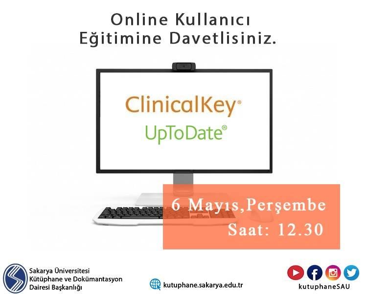 UpToDate Advanced - Elsevier Clinical Key : Tıp Kaynakları Erişimi - Online Kullanıcı Eğitimi