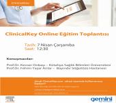 Elsevier ClinicalKey Webinar : 7 Nisan 2021 - Dahili Tıp Bilimleri Hocalarımızın katkıları ile